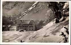 Postcard Klais Krün in Oberbayern, Hochgebirgsheim Schloß Kranzbach