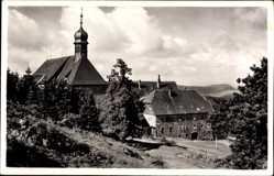 Postcard Bischofsheim a.d. Rhön, Blick auf das Kloster Kreuzberg, Kirche