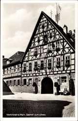 Postcard Marktbreit am Main, Gasthof zum Löwen, H. König, Erbaut 1450