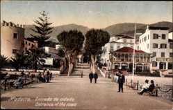Postcard Insel Madeira Portugal, Entrada da cidada, Eingang zum Ort