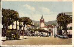 Postcard Funchal Insel Madeira Portugal, Catedral, Kathedrale, Platz