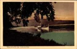 Postcard Bad Karlshafen an der Oberweser, Salondampfer auf der Weser