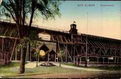 Postcard Bad Elmen Schönebeck an der Elbe im Salzlandkreis, Am Gradierwerk