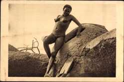 Ak Tschad, Afrique Equatoriale Francaise, Femme Moundang de Léré, Barbusige Frau