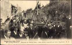 Ak Fuenterrabia Baskenland, Procession de Semena Santa, Religiöses Fest