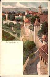Künstler Litho Mutter, K., Rothenburg o. T., Stadtmauer