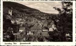 Postcard Sonneberg Thüringen, Stadtpanorama, Häuser, Glockentürme