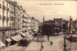 Postcard Donostia San Sebastián Baskenland, Calle de Hermani, Straßenbahn