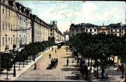 Postcard Lisboa Lissabon Portugal, Praca de D. Pedro IV e Rua Augusta