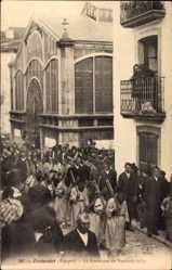 Ak Fuenterrabia Baskenland, La Procession du Vendredi Saint