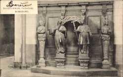 Postcard Roermond Limburg Niederlande, Beeldhouwwerk, Cathedraal