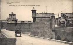 Postcard Cadiz Andalusien, Murallas de los Glacis de Puerta de Tierra, Mauern, Turm