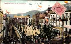 Postcard Teneriffa Kanarische Inseln Spanien, Plaza de la Constitucion, Platz