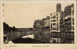 Postcard Gerona Katalonien, Puente sobre el rio Onar, Brücke