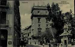 Postcard Valencia Stadt Spanien, Audiencia Palacio de Justicia