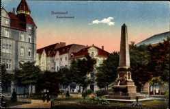 Postcard Dortmund im Ruhrgebiet, Ansicht vom Kaiserbrunnen
