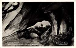 Postcard Burggailenreuth Ebermannstadt, Quackenschloss, Durchblick, Höhle