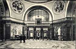 Postcard Wiesbaden in Hessen, Neues Kurhaus,Thermenhalle,Blick zum kleinen Konzertsaal