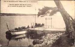 Postcard Saint Honnorat Alpes Maritimes, Débarcadère de la Cie, Service régulier