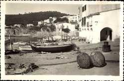 Postcard Palafrugell Katalonien, Costa Brava, Les Voltas de Calella, Strand