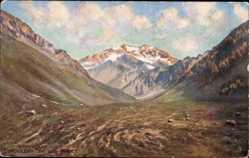 Künstler Ak Mendoza Argentinien, Blick auf den Aconcagua, Tuck 7961