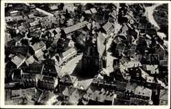 Postcard St. Wendel in Saarland, Fliegeraufnahme, Wendalinusbasilika