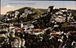Postcard Pottenstein im Kreis Bayreuth Oberfranken, Gesamtansicht der Stadt