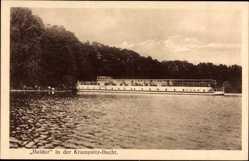 Postcard Potsdam in Brandenburg, Fähre Baldur in der Krampnitz Bucht