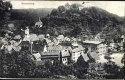 Postcard Neuenbürg Enzkreis Baden Württemberg, Gesamtansicht mit Schloss
