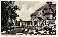 Postcard Bad Steben im Frankenwald Bayern, Vorderansicht vom Staatlichen Kurhaus