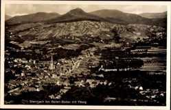 Postcard Steinbach Baden Baden im Stadtkreis Baden Württemberg, Gesamt mit Yburg