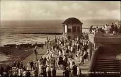 Postcard Borkum, Nordseebad, Wandelhalle, Strand, Besucher, Pavillon