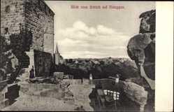 Postcard Nideggen, Stadtpanorama, Blick vom Schloss, Ruinen, Mauer