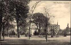 Postcard Bad Pyrmont in Niedersachsen, Blick auf Häuser in der Hauptallee