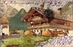 Künstler Ak Schmohl, P., Pertisau Eben Achensee Tirol, Fischerhaus