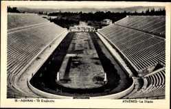 Postcard Athen Griechenland, Le Stade, Stadion aus der Vogelschau