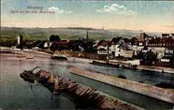 Postcard Würzburg am Main Unterfranken, Blick von der alten Mainbrücke, Stadtansicht