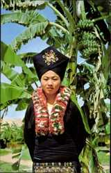 Postcard Thailand, Yao Girl, One of the Hill Tribes at old Chiengmai Cultural Center