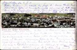 Postcard Bad Wörishofen im schwäbischen Kreis Unterallgäu, Panorama der Stadt