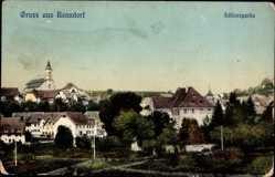 Postcard Bonndorf im Schwarzwald Kreis Waldshut, Schlosspartie, Totalansicht