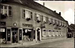 Postcard Hockenheim Baden, Hotel Kanne, Bes. Heinrich Seitz
