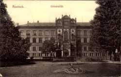 Postcard Rostock in Mecklenburg Vorpommern, Ansicht der Universität