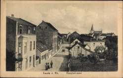 Postcard Lank Meerbusch im Rheinkreis Neuss, Hauptstraße im Ort