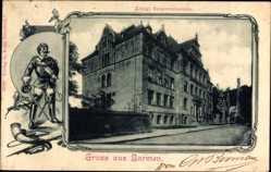 Passepartout Ak Barmen Wuppertal in Nordrhein Westfalen, Kgl. Baugewerkschule