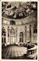 Postcard Bruchsal im Kraichgau Baden Württemberg, Der Kuppelsaal im Schloss