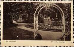 Postcard Bad Salzschlirf in Hessen, Teil aus den Kuranlagen