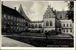 Postcard Bad Bentheim in Niedersachsen, Der Schlosshof des Schlosses