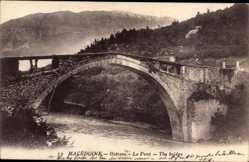 Postcard Ostrovo Skopje Mazedonien, Le Pont, The bridge, Brücke