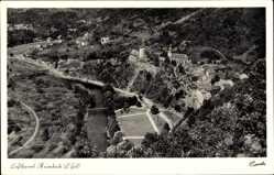 Postcard Heimbach in der Eifel, Luftkurort, Luftbild, Stadtpanorama, Glockenturm
