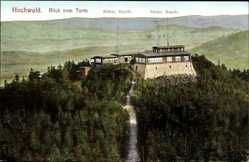 Postcard Oybin, Hochwald, Blick vom Turm, Böhmische Bande, Sächsische Bande